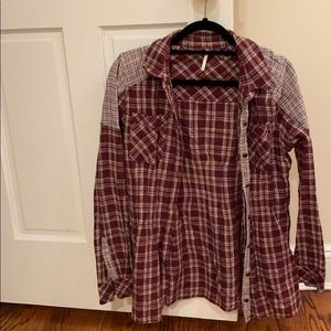 Free people plaid button down